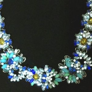Jewelry - Chunky rhinestone necklace/choker multicolor